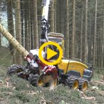 EcoLog 688 & T-WINCH 10.1 | Harvesting Uphill