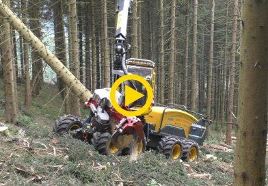 EcoLog 688 & T-WINCH 10.1 | Harvesting Uphill