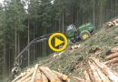 John Deere 1170E & H413 | Steep Slope